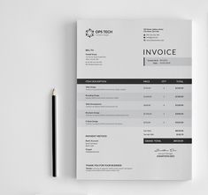 This Clean Invoice will help you in your business to save time, organize you product data and customers info and easily generate the invoice by inserting the costumers ID and Item. It is designed for personal and corporate use. Invoice Design Template, Letterhead Design, Brochure Design, Typography Design, Branding Design, Corporate Design, Firma Email, Design Autos, Pamphlet Design
