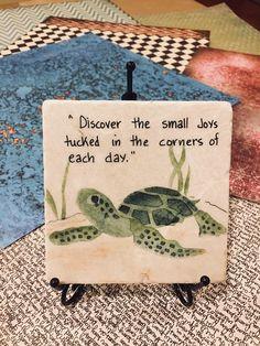 Turtle Art Turtle Painting on Tile Oil Painting Turtle Oil Reptiles, Turtle Quotes, Cute Turtles, Sea Turtles, Baby Turtles, Painted Rocks, Hand Painted, Painted Pavers, Turtle Crafts