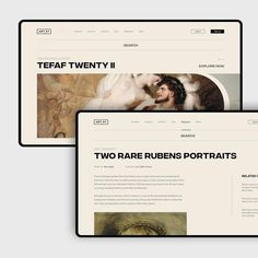 Website and branding for a museum. Website Design Layout, Web Layout, Layout Design, Ux Design, Modern Web Design, Interior Design, Identity, Architecture Portfolio, Museum Architecture