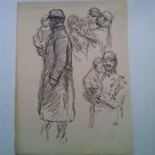 Steinlen WWI Signed In Plate Lithograpgh World War Propaganda litho vintage WW1