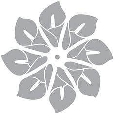 "DEVONPRO LILY FLOWERS vinyl Sticker Decal (2"" x 2"", Silver) #DEVONPRO #LILY #FLOWERS #vinyl #Sticker #Decal #Silver)"