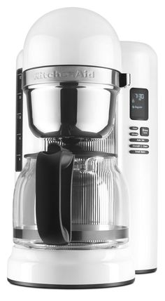 online shopping for KitchenAid Coffee Maker One Touch Brewing - White from top store. See new offer for KitchenAid Coffee Maker One Touch Brewing - White Best Coffee Maker, French Press Coffee Maker, Coffee Shop, Coffee Cups, Coffee Beans, Coffee Maker With Grinder, Coffee Brewer, Coffee Coffee, Coffee Drinks