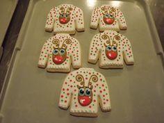 Ugly Sweater Reindeer...Log House Cookies