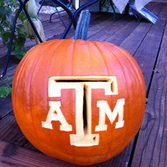 An Aggie pumpkin masterpiece!