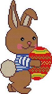 Easter bunny - free cross stitch pattern