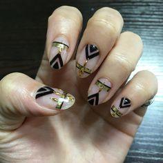 My nail 個性派クリアネイル