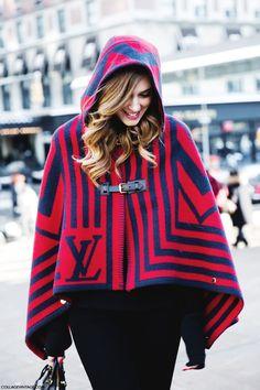 Chiara Ferragni in Louis Vuitton Cape