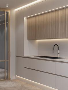 Minimal Kitchen Design, Luxury Kitchen Design, Kitchen Room Design, Home Room Design, Kitchen Cabinet Design, Minimalist Kitchen, Kitchen Layout, Home Decor Kitchen, Interior Design Kitchen