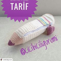 Crochet For Kids, Easy Crochet, Knit Crochet, Crochet Hats, Amigurumi Patterns, Crochet Patterns, Pencil Eraser, Knit Shoes, Knitted Shawls