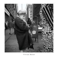 "Vivian Maier Old Woman on the Street 24x24"" Print"