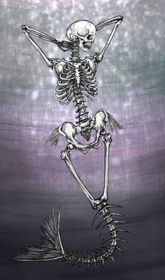 Mermaid Skeleton by kaleidoscopickle on DeviantArt