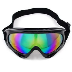 "Stylish Wraparound Black Frame Tinted Lens Elastic Strap Padded Frost Free Unisex Men Women UV Goggles For Motorcycle BMX ATV Dirt Bike Biker Helmet Decoration Ice Ski Snowboard Cross Country Skiing by Astra Security. $12.99. This listing is for Band New an Fashion Wrap-around style Tinted Lenses Motorcycle Windproof Goggle Specifications: • Package Includes: One dazzling colorful Reflection Lens Goggle with adjustable elastic belt/strap  • Size: appr. W 7 1/4"" x H 3 ..."