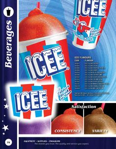 The 'frozen' cousin of the carbonated beverages. ICEE is in fact made with CO2 and which means that it is carbonated. Ever since Burger King began selling these, I've been buying them almost as often as I purchase normal soda.