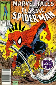 Marvel Tales 223 1989 cover by Todd McFarlane Spider-Man Doctor Octopus Marvel Comic books cover Peter Parker web Comics Spiderman, Marvel Comics Art, Marvel Comic Books, Comic Book Characters, Comic Book Artists, Comic Character, Comic Books Art, Comic Art, Spiderman Drawing