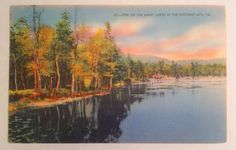 1940's One Of The Many Lakes In The Pocono Mts., PA Postcard by Otter Creek Antiques $5.95