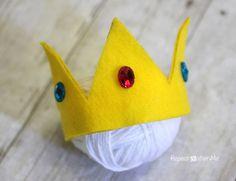 Repeat Crafter Me: No-Sew Felt Princess Peach Crown @Stephanie Close G