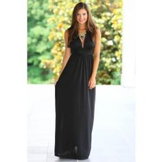 Luxe Be A Lady Maxi Dress-Black - $52.00. I'm in love with this maxi dress!!!!!!!!!!!!!!!!!!!!!!!!!!!!!!!!!!!!!!!!!!!!!!!!!!!!!!!!!!!!!!!!!