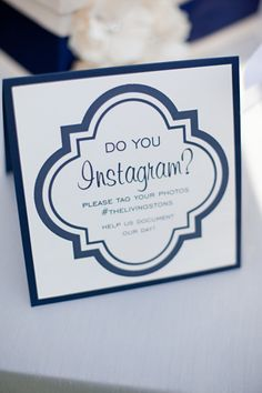 Cuz we obviously have to have our own hashtag! (#DalDollAndHebCastTieTheKnot) Make a pretty sign to place next to selfie station.