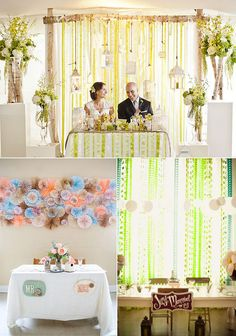 Sweetheart table backdrops