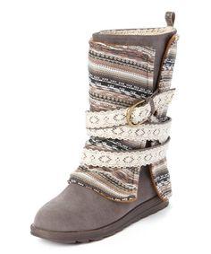 MUK LUKS Gray Nikki Sweater Boot - Women   zulily
