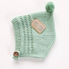 Knit Baby Pixie Bonnet Merino Wool Pixie Hat by hilaryfrazier