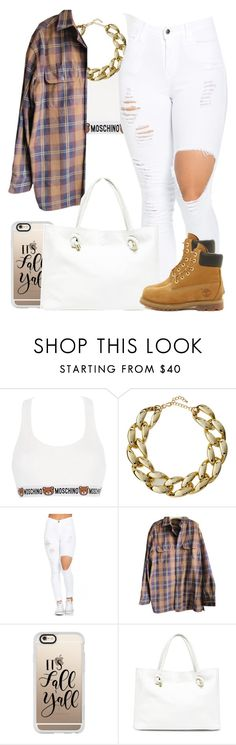 """""""Sans titre #18"""" by kabengeleleslie on Polyvore featuring mode, Moschino, Kenneth Jay Lane, Timberland, Casetify et Sole Society"""