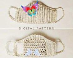 Crochet pattern for the Face Mask / Crochet Face Mask with Pocket for Kleenex / Fase Mask Pattern  <br> Crochet Faces, Digital Pattern, Face Masks, Crochet Patterns, Pocket, Hats, Facial Masks, Hat, Crochet Granny
