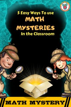 5 Easy Ways to use math mysteries in the classroom. Fun Math Games, Math Activities, Math Skills, Math Lessons, 5th Grade Math, Fourth Grade, Second Grade, Sixth Grade, Math Help