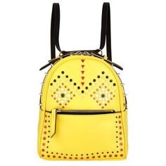 Les Petits Joueurs Micro Mick Studded Backpack (£490) ❤ liked on Polyvore featuring bags, backpacks, mini backpack, travel rucksack, leather backpack, miniature backpack and mini leather backpack