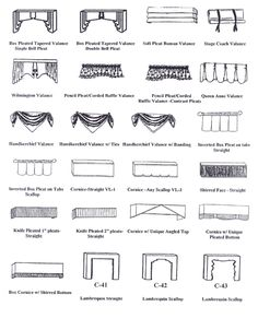 window treatments valance styles - Google Search
