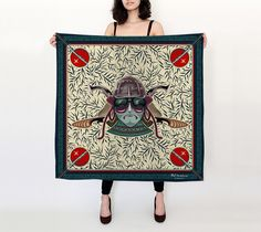 "Big+Square+Scarf+(36""+x+36"")+""Warrior+of+Thornes""+by+BCcreativity"