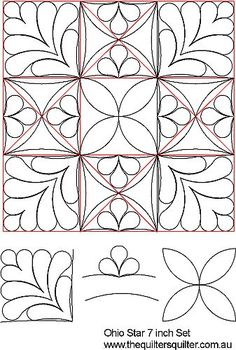 Ohio Star Quilting Designs 41 Ideas For 2019 Sewing Machine Quilting, Machine Quilting Designs, Longarm Quilting, Quilting Stencils, Quilting Templates, Quilting Tutorials, Easy Hand Quilting, Free Motion Quilting, Quilting Stitch Patterns