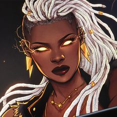 Afrofuturism Art And Cyberpunk Cartoon Kunst, Comic Kunst, Cartoon Art, Black Love Art, Black Girl Art, Art Girl, Storm Marvel, Storm Xmen, Black Comics