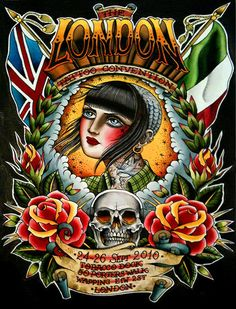 Valerie Vargas poster for the London Tattoo Convention, 24-26 Sept 2010