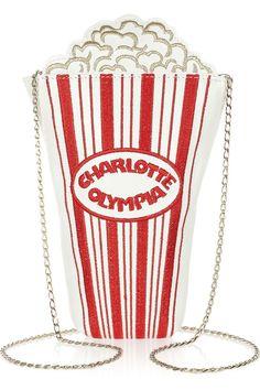 Le sac pop-corn Charlotte Olympia 395 euros sur Net à Porter