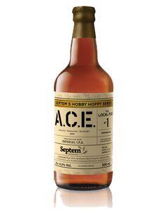 A.C.E. - 8,5 vol% - 100 IBU - Septem Microbrewery Brewery, Coffee Shop, Greek, Drinks, Bottle, Day, Coffee Shops, Drinking, Coffeehouse