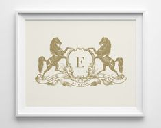 Sweetpeonypress on etsy. Equestrian monogram, that would also look great as a tray