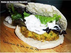 Ponto de Rebuçado Receitas: Hambúrguer de grão em pão pita