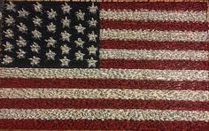 Man crafts american flag out of tiny plastic army men Crafts For Seniors, Crafts For Boys, Diy Crafts To Sell, Flying Flag, Aesthetic Objects, Man Crafts, Army Men, Old Glory, Toy Craft