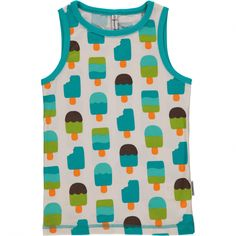 453138308d5155 Ice Cream Tanktop from Sweden s Maxomorra. Made ethically from GOTS  Certified Organic Cotton. Available in Canada at Modern Rascals.
