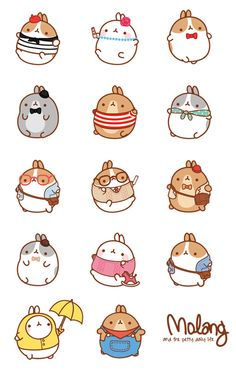 new ideas for doodle art cartoon character Chat Kawaii, Arte Do Kawaii, Kawaii Art, Kawaii Doodles, Cute Kawaii Drawings, Cute Doodles, Kawaii Stickers, Cute Stickers, Pusheen Stickers