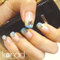 Nail stamping - I wouldn't do this but it's still cute