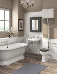 traditional bathrooms designs. Downton Abbey Carlton High Level Toilet + Soft Close Seat. Traditional Bathroom FurnitureTraditional MirrorsDream BathroomsSmall Bathrooms Designs T