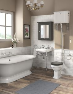 Our Exclusive Downton Abbey Range Of Traditional Bathroom Furniture Including This High Level Toilet