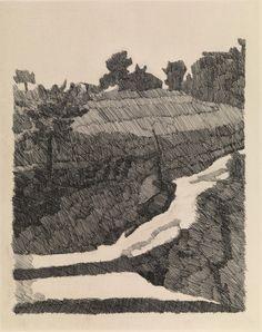Giorgio Morandi (Italian, 1890-1964), Paesaggio di Grizzana, 1932. Etching, 297 x 240 mm. Sheet: 515 x 353 mm. Number 21/60.
