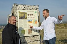 Petr Marcincak and Mike Mazey at one of the information panel of Marcincka´s vine/wine education trail
