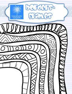 Doodle pen marker border