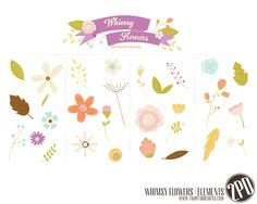 Whimsy Flowers - Vector by Holly