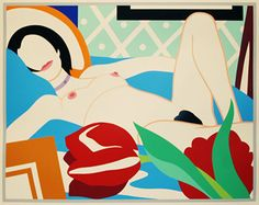 Monica with Tulips, Tom Wesselmann, 1989.  Art Experience NYC  www.artexperiencenyc.com/social_login/?utm_source=pinterest_medium=pins_content=pinterest_pins_campaign=pinterest_initial