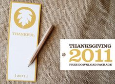 Free printable Thanksgiving recipe cards & place cards. #thanksgiving #printables